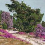 Pastellbild von Eva Jelinek: Gen Wildseder Berg