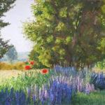 Pastellbild von Eva Jelinek: Bensheimer Ansichten