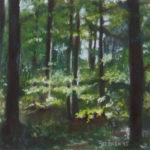 Pastellbild von Eva Jelinek: Odenwald