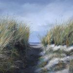 Pastellbild von Eva Jelinek: Zum Strand